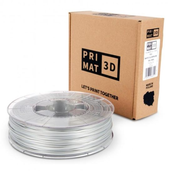 3df filament in white aluminium, weisses Aluminium, box