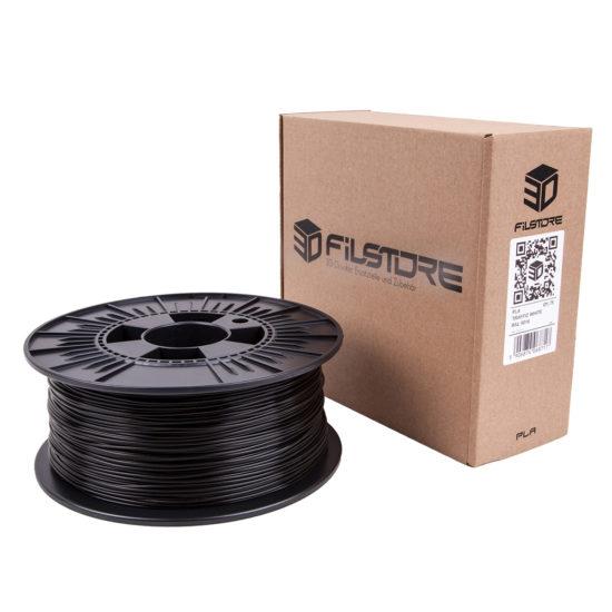 3D Druck Filament in coal black, kohle schwarz