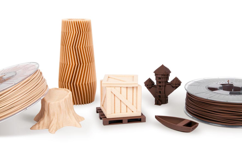 Echtholzfilament Holz und Kork 1