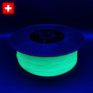 3DFilstore Neon Green, in UV-Bestrahlung