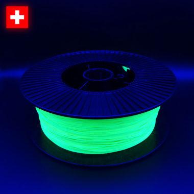 3DFilstore Neon Yellow, in UV-Bestrahlung