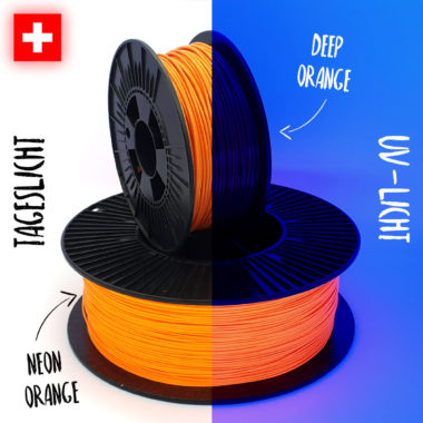 Comparison orange Filaments Vergleich orange Filamente