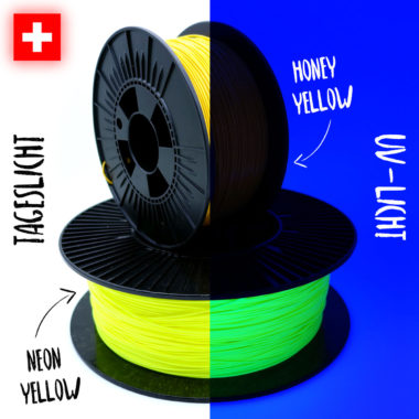 Comparison Yellow Filaments Vergleich gelbe Filamente