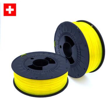 PETG Transparent Neon Yellow, transparent fluoreszierend gelb