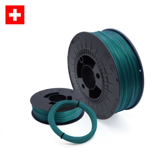 TPU 53 D Transparent Green, transparent grünes TPU Filament