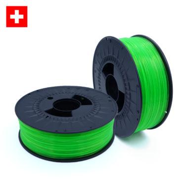 PETG Transparent Green Neon, durchsichtig grünes neon Filament