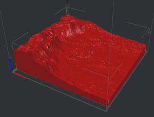 STL-Datei von Marsoberfläche