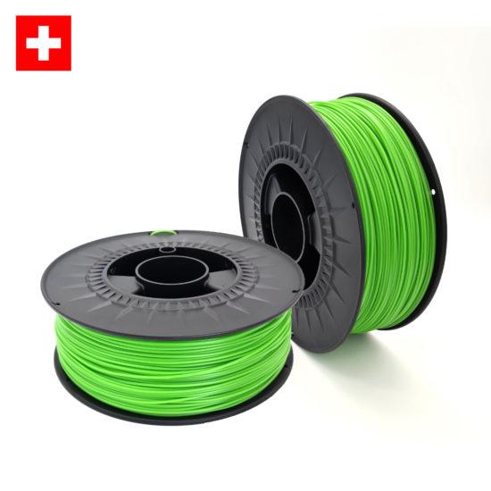 3DFilstore Swiss Made Filament PETG, PLA, BioTEC Lime Green