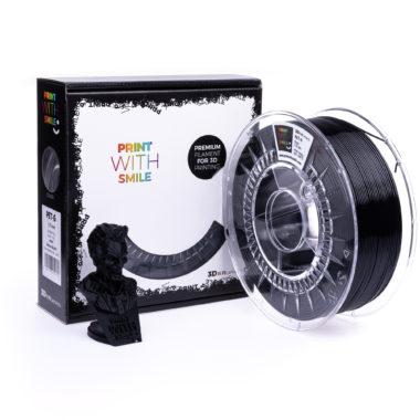 Print With Smile Premium PETG Satine Black Filament, 1.75 PWS, satin schwarz