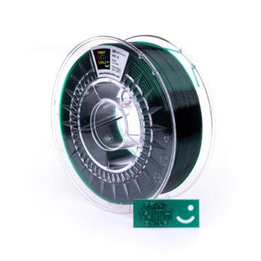 Print With Smile Premium PETG Green Bottle Filament, 1.75 PWS, transparent grün