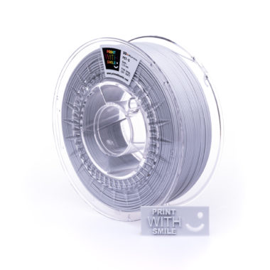 Print With Smile Premium PETG Light Grey Filament, 1.75 PWS, Hell grau