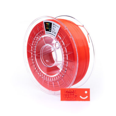 Print With Smile Premium PETG Neon Red Filament, 1.75 PWS, neon rot