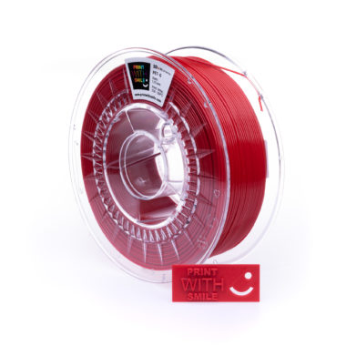 Print With Smile Premium PETG Red Filament, 1.75 PWS, rot