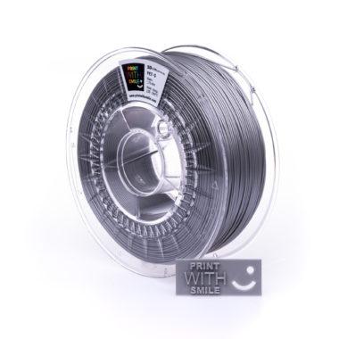 Print With Smile Premium PETG Silver Filament, 1.75 PWS, silber