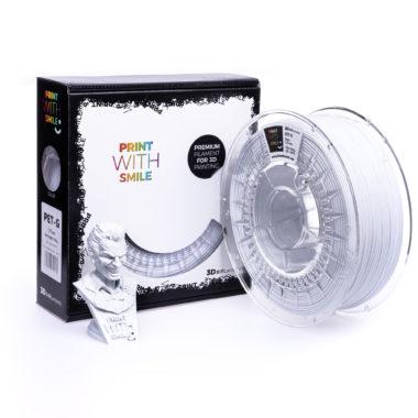 Print With Smile Premium PETG Satine White Filament, 1.75 PWS, satin weiss