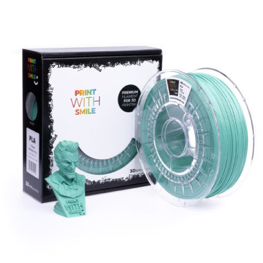 Print With Smile Premium PLA Fresh Mint Filament, 1.75 PWS, mint green, minzgrün