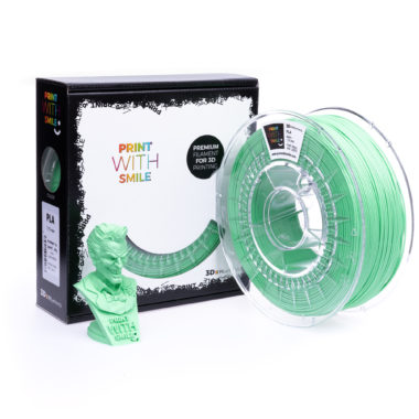 Print With Smile Premium PLA Light Green Filament, 1.75 PWS, hellgrün