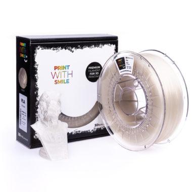Print With Smile Premium PLA Natural Filament, 1.75 PWS, transparent