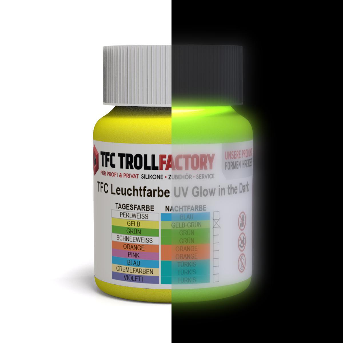 TFC Nachleuchtpigment Leuchtpulver Leuchtpigment Nachtleuchtfarbe blau-grün 500g